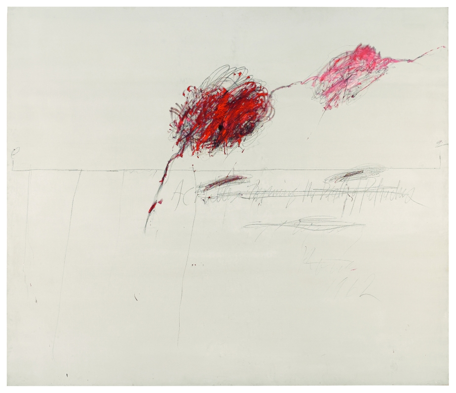 Achilles Mourning the Death of Patroclus, 1962, Oil, wax crayon, lead pencil on canvas, 259 x 302 cm