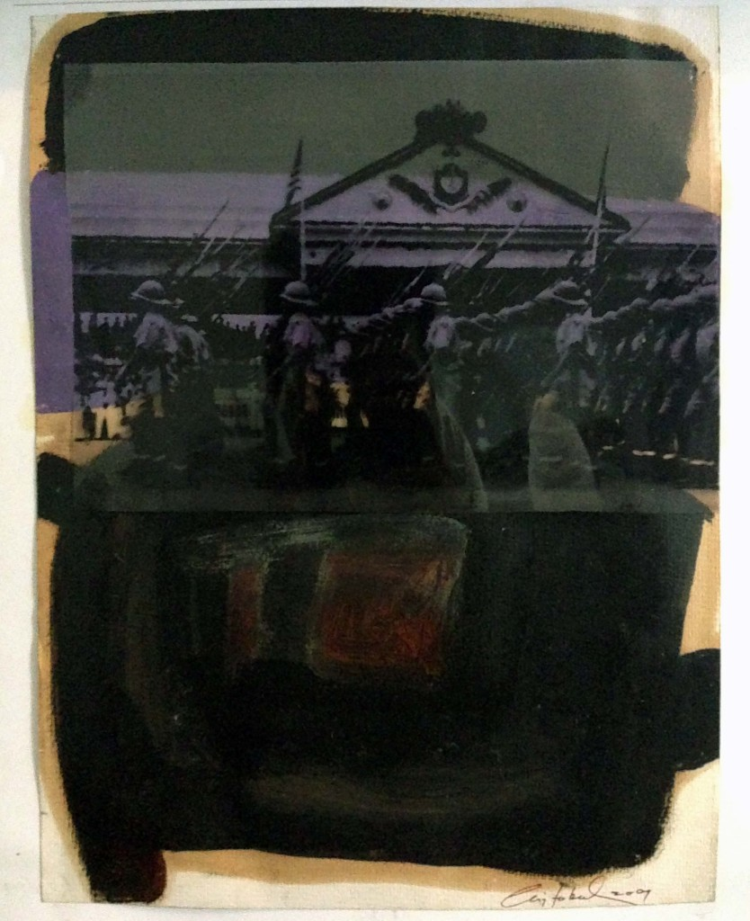 Parade, oil on paper, 20 x 30 in, 2009