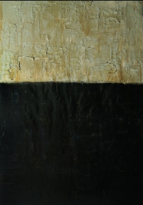 Scriptorium Manileño (San Agustin), 2017, oil and spar varnish on canvas, 48 x 60 inches