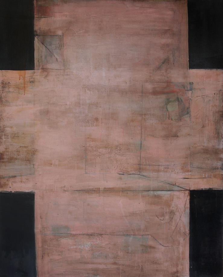 Cross for Constancio Bernardo II, 2017, oil and spar varnish on canvas, 60 x 48 inches