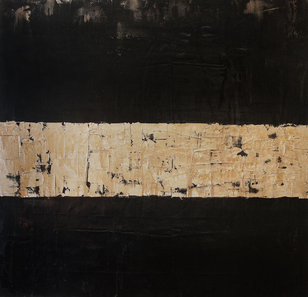 Poemas y Anti-poemas, 2017, oil and spar varnish on canvas, 57.5 x 59 inches