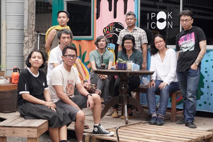 Ruangrupa members in 2019: Ajeng Nurul Aini, Farid Rakun, Iswanto Hartono, Mirwan Andan, , Indra Ameng, Ade Darmawan, Daniella Fitria Praptono, Julia Sarisetiati, and Reza Afisina. GUDSKUL/JIN PANJI