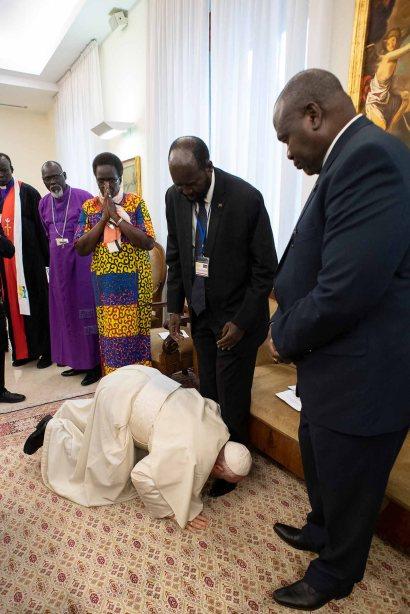 POPE SOUTH SUDAN RETREAT VATICAN