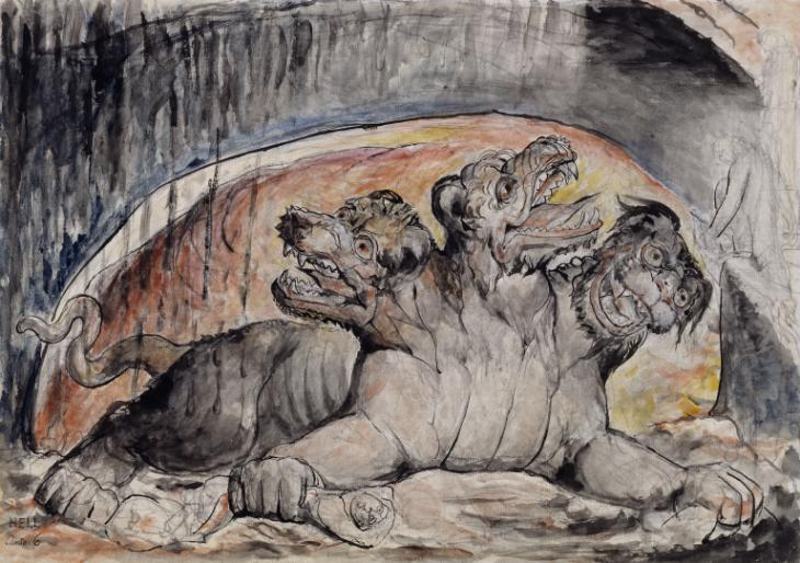 Cerberus 1824-7 by William Blake 1757-1827