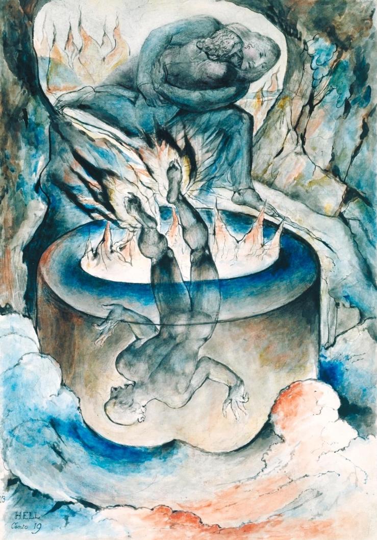 The Simoniac Pope 1824-7 by William Blake 1757-1827