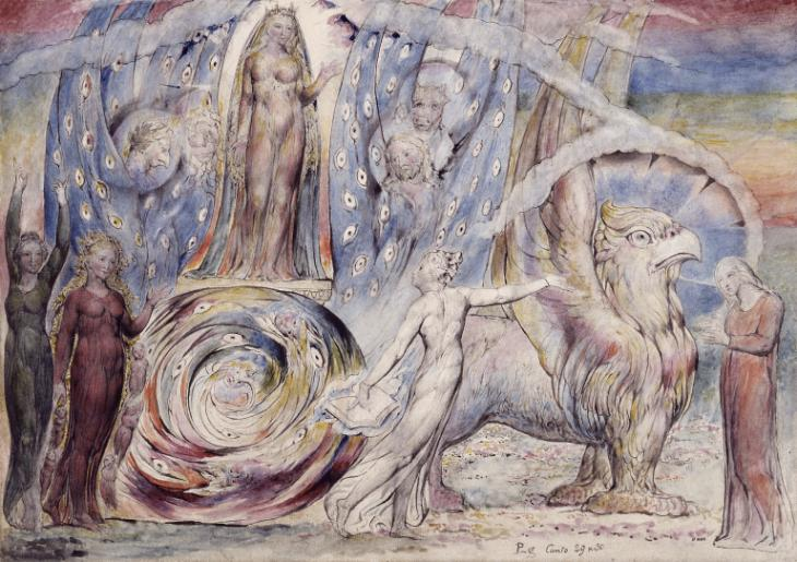 Beatrice Addressing Dante from the Car 1824-7 by William Blake 1757-1827