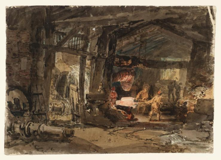 The Interior of a Cannon Foundry 1797-8 by Joseph Mallord William Turner 1775-1851